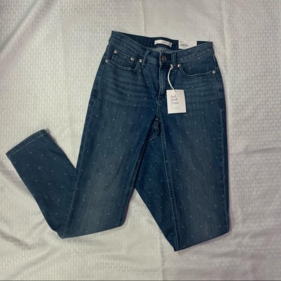 NWT Lauren Conrad Polka Dot Skinny Jeans
